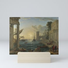 Seaport with the Embarkation of the Queen of Sheba by Claude Mini Art Print