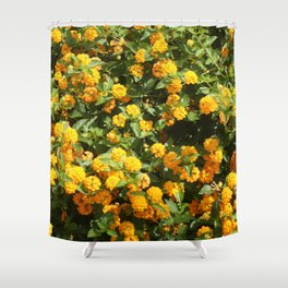Blooming Lantana Plant Shower Curtain