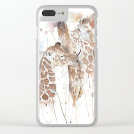 """Watercolor Painting of Picture """"Mother and Son"""" Clear iPhone Case"""