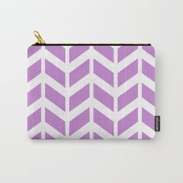 Lilac and white chevron pattern Carry-All Pouch