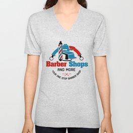 Barber Shop Sign Unisex V-Neck