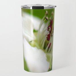 Macro Korean Sun Pear Blossom 1 Travel Mug