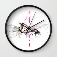 lovers Wall Clocks featuring Lovers by Subcon