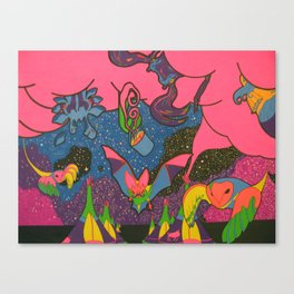 Tipi time Travel Canvas Print