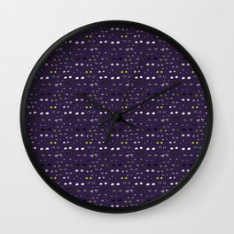 Eyes in the night Wall Clock