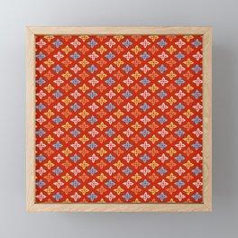 Las Flores - Red 01 (Patterns Please) Framed Mini Art Print