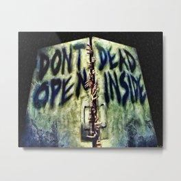 Walking Dead Dont Open Metal Print