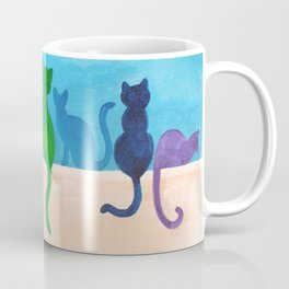 Catch A Rainbow - Cats on a Wall Coffee Mug
