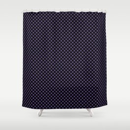 Black and Gentian Violet Polka Dots Shower Curtain