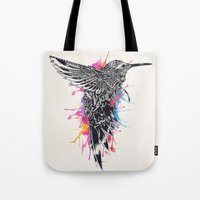 hummingbird Tote Bags featuring HummingBird by efan