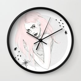 Celestial Woman - Fashion Illustration Wall Clock