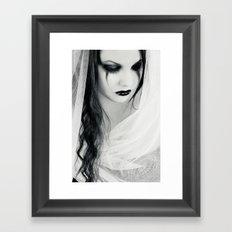 Lonely Pierrot Framed Art Print
