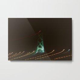 Bridge Tower at Night Metal Print