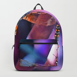 Dragonfly In Orange and Blue Backpack