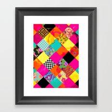 Retro squares Framed Art Print