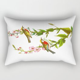 Chestnut Sided Warbler Bird Rectangular Pillow