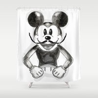 mickey Shower Curtains featuring Hey Mickey by terezamc.