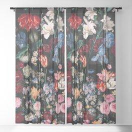 Midnight Garden XVII Sheer Curtain