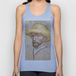 1887-Vincent van Gogh-Self-portrait-32,9x40,8 Unisex Tank Top