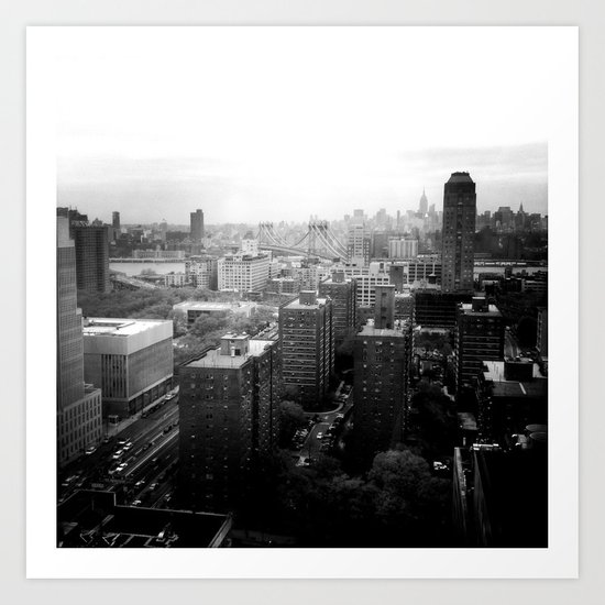 Brooklyn Black and White Art Print