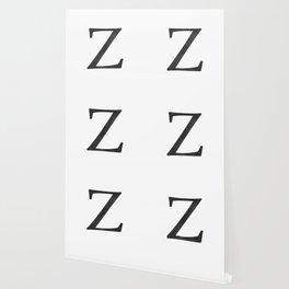 Letter Z Initial Monogram Black and White Wallpaper