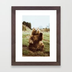 Hi Bear Framed Art Print