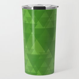 Gentle green triangles in intersection and overlay. Travel Mug