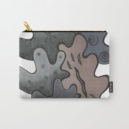 Relaxing Ornamental Spirits. Meditative iFi Art. Stress and Pain Free with MYT3H. Grey. Deep. Dark. Carry-All Pouch