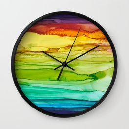 Euphoria Rainbow Art Print Wall Clock