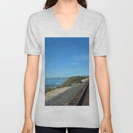 Costal Train Tracks Unisex V-Neck