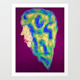 Colorful Curlz Art Print