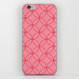 Moorish Circles - Pink & Red iPhone Skin