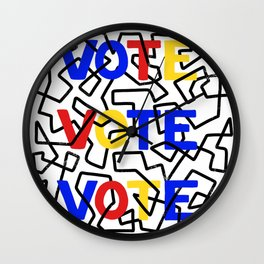 VOTE abstract design Wall Clock