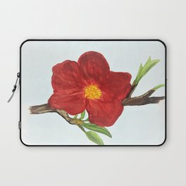 Bright Red Plumb Blossom Laptop Sleeve