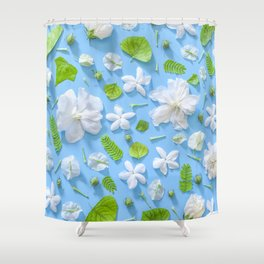 Leaves and flowers pattern (16) Shower Curtain