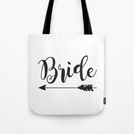 Bride Arrow Bride Tribe Groom Tribe Bridal Party Bridesmaid Groomsmen Bachelor Bachelorette Tote Bag