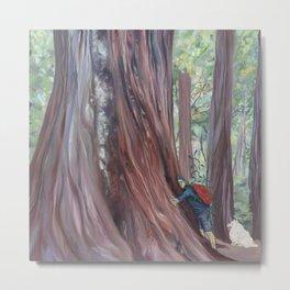Tree Whisperer and His Dog Metal Print