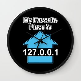 Home Localhost Programmer Gift Idea Wall Clock