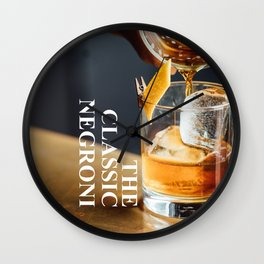 The Classic Negroni Wall Clock