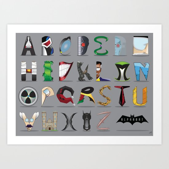 The Alphabat - Horizontal Pro Art Print