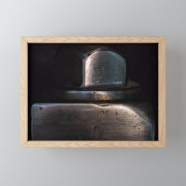 machine bolt Framed Mini Art Print