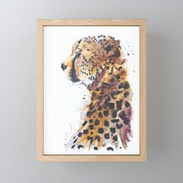 Cheetah Watercolour Painting Print by Bonnie Dixson, Art, Animal Art, Home Decor Framed Mini Art Print