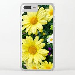 Pretty Daisies Clear iPhone Case