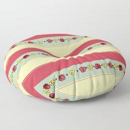 A Rosy Outlook Floor Pillow