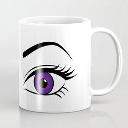 Violet Wink (Left Eye Open) Coffee Mug