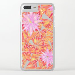 Water Lilies – Melon Palette Clear iPhone Case