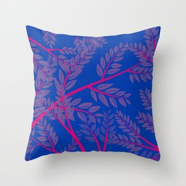 Bisexual Pride Overlapping Simple Leafy Branches Throw Pillow