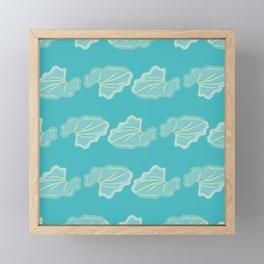 Silver Falls Leaf Pattern Framed Mini Art Print