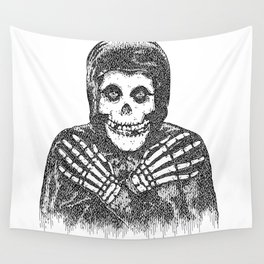 Crimson Ghost Wall Tapestry