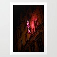 Oh l'amour Art Print